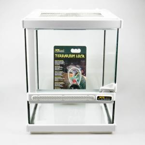 Terrarium with double ventilation white